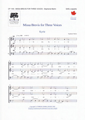 Missa Brevis for Three Voices [SAB]