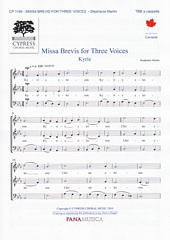Missa Brevis for Three Voices [TBB]